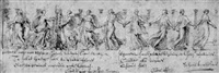 a frieze of bacchantes by pietro santi bartoli