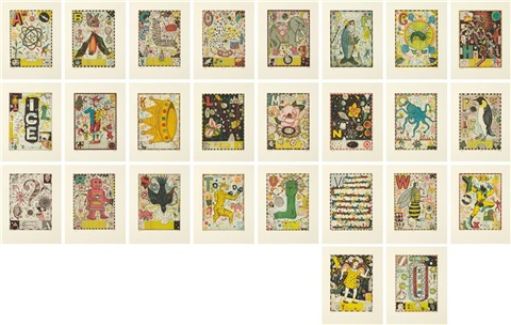 max and gabys alphabet portfolio set of 27 by tony fitzpatrick