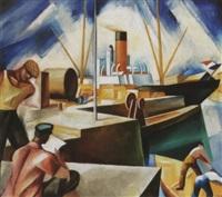 kiköto (le havre-i kikötö), 1927 - port, le havre by jenö gábor