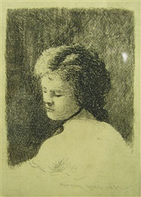 woman portrait by theodor aman
