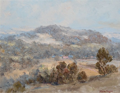 valley mountain scene by j colin angus