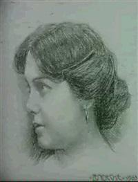 portrait eines madchens by otto friedrich lendecke