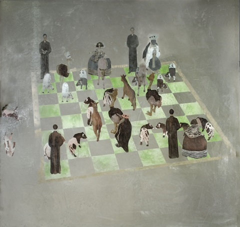 chess set 1918 by giacinto occhionero