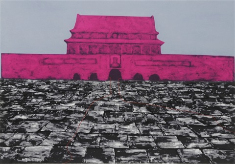 tiananmen series 7 works by zhang xiaogang