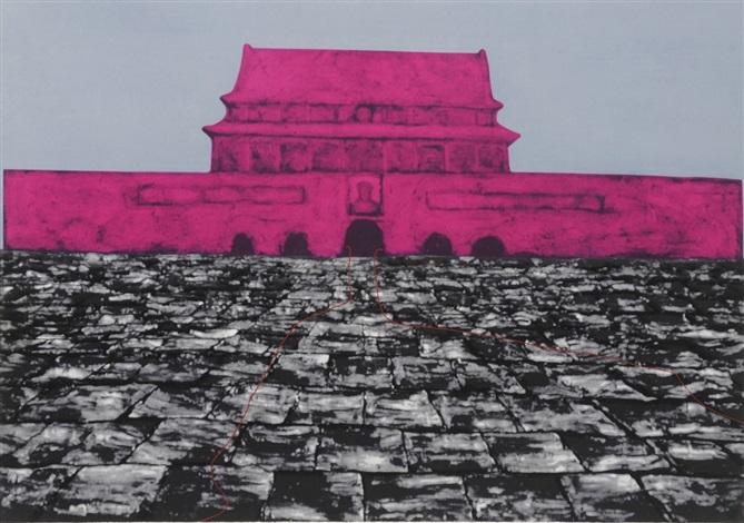 tiananmen series 7 works by zhang xiaogang