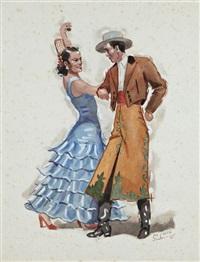 danseurs andalous by léo lelee