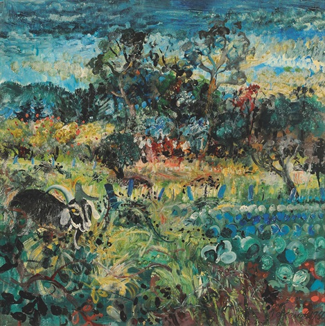 goat in a bayswater garden by john de burgh perceval