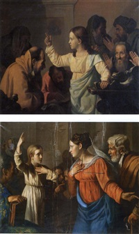 le christ et les docteurs (+ le christ retrouvé par ses parents; pair) by paolo de albertis