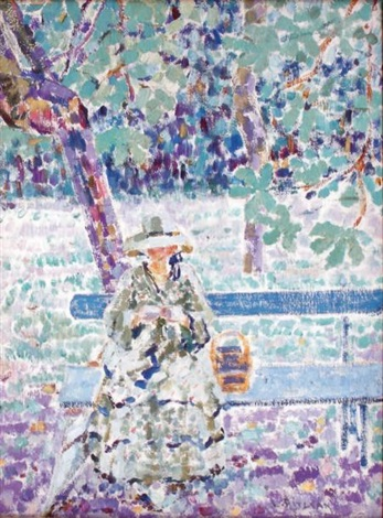 jeune femme au jardin by louis ritman