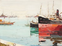ships in port by rudolph negely