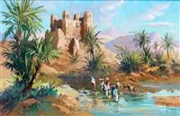la kasbah au bord de l'oued draa by max flegier