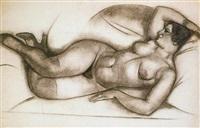 femme allongée by léon voguet