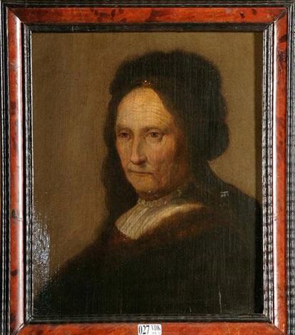 portrait de la mère de rembrandt by jan lievens
