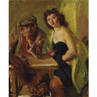 couple in a cafe by iosif iser