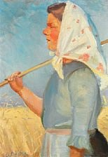 harvest girl by anna kirstine ancher
