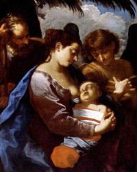 madonna con il bambino, san giuseppe e un angelo by flaminio torre