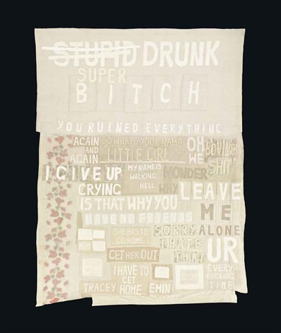 super drunk bitch by tracey emin