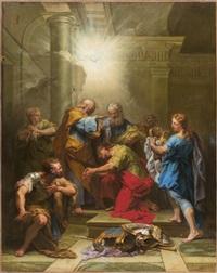 ananie imposant les mains à saint paul by jean restout the younger
