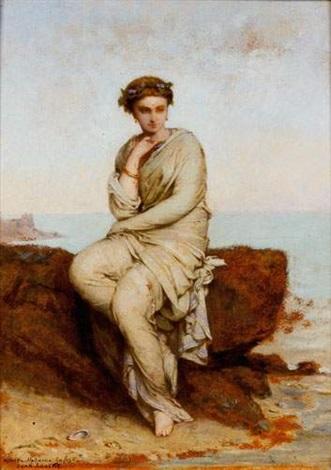 portrait de femme by jean ernest aubert