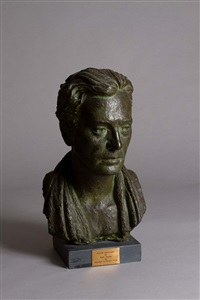 bust of micheál macliammóir as mark anthony by marshall c. hutson