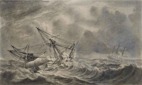 the durrington and the stretham riding out a gale the tryton in perilous waters 2 works by john hood
