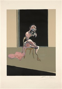 triptych august, 1 planche - 1989 by francis bacon