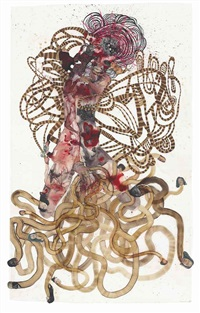 a fake jewel in the crown by wangechi mutu