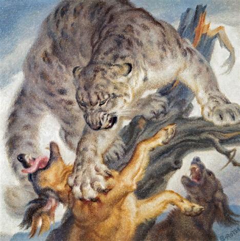 Schneeleopard By Norbertine Bresslern Roth On Artnet