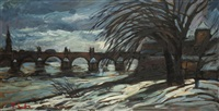 blick auf die karlsbrücke by frantisek emler