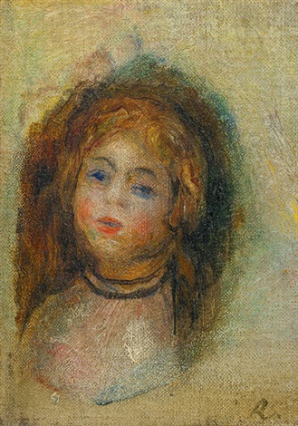 young girl Auguste head of renoir a