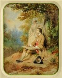 le jeune peintre by gustave david