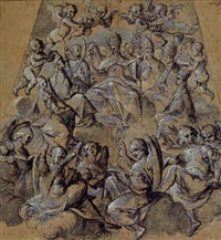 an assembly of the doctors of the church by belisario corenzio