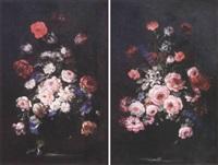 bouquet de fleurs sur un entablement by benito espinos