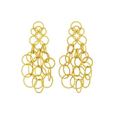 Gold Hawaii Earrings Pair By Buccellati