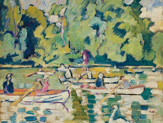 barques au bois de boulogne by louis valtat