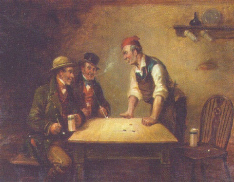 a game of shove penny by george fox