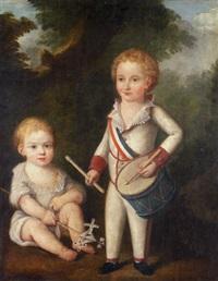deux enfants au tambour by rafaelli