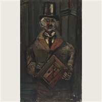 man in a top hat by nahum tschacbasov