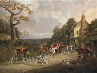 the creme o'th chase, the essex hunt near epping by dean wolstenholme the elder