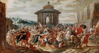 der raub der sabinerinnen by frans francken the younger