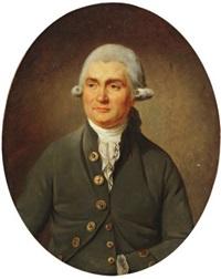 portrait de gentilhomme à la veste grise by antoine vestier