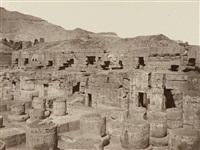 medinet-abou, restes d'un temple nouvellement déblayé by louis de clercq