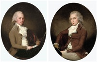 portrait of a gentleman, mr. lodington? (+ portrait of a gentleman, john lodington?; pair) by francis alleyne
