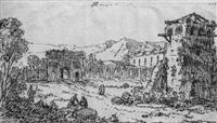 ruines dans un paysage animé by pierre ozanne