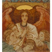 angelus de sommié by phoebe anna traquair