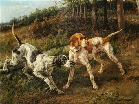 two pointers in a landscape by edmund henry osthaus