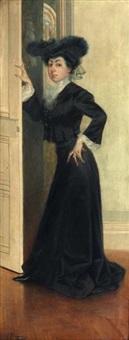 portrait de femme en pied by felix alarcon