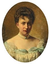 a portrait of a lady by wenzel ulrik tornoe