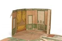 dessin-maquette : projet en trois dimensions pour un salon à musique by pierre françois léonard fontaine
