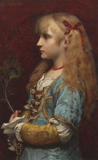 portrait de jeune fille by jules badin